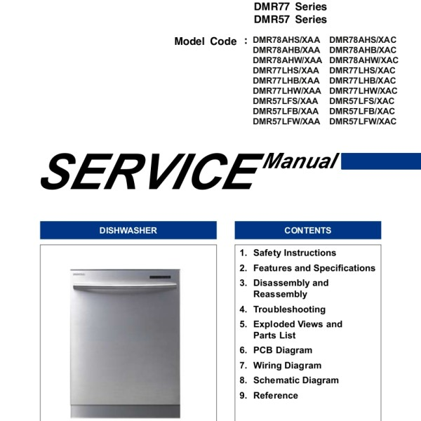 Samsung Washer And Dryer Service Repair Manual: Step Right Up Appliance Service Manuals