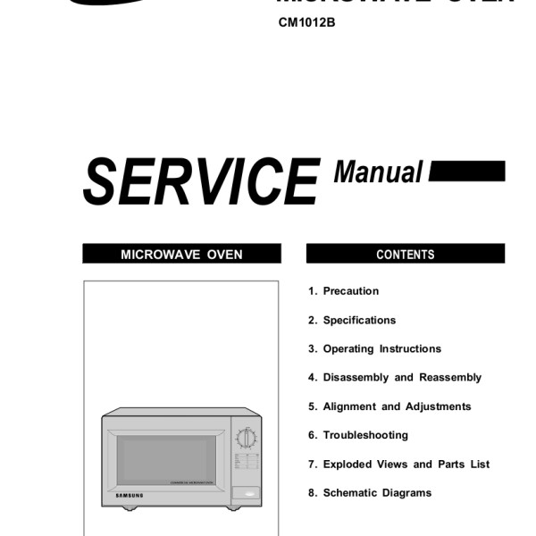 Quasar Microwave Convection Oven: Samsung Microwave Service Manual