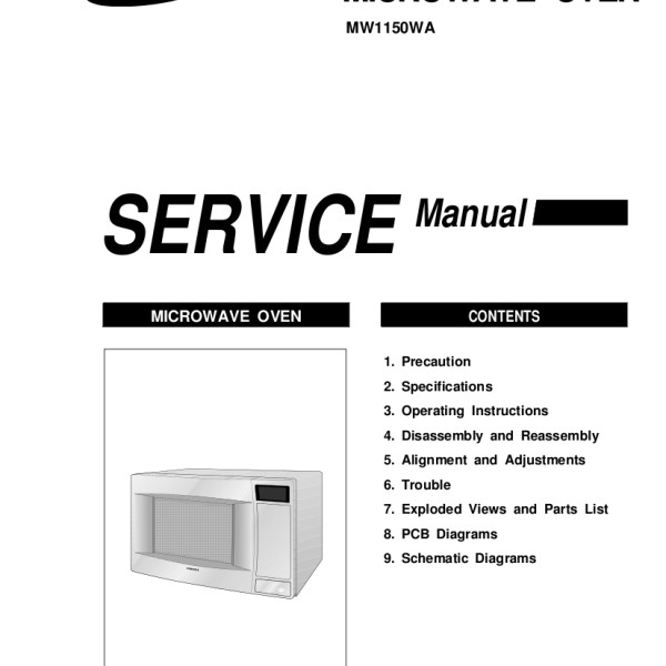 step right up appliance service manuals rh new2 steprightupmanuals com Samsung Over Range Microwave Parts samsung microwave oven model me18h704sfs owners manual