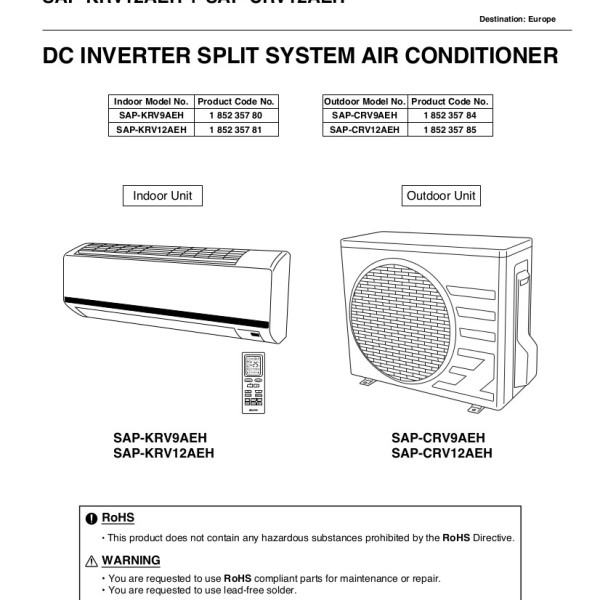 step right up appliance service manuals rh new2 steprightupmanuals com sanyo air conditioner user manual sanyo air conditioning manual