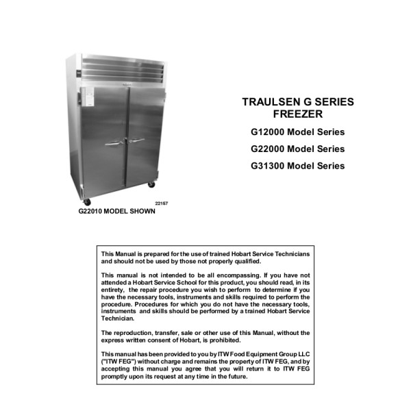 Traulsen Freezer Service Manual Free Download • Playapk.co on