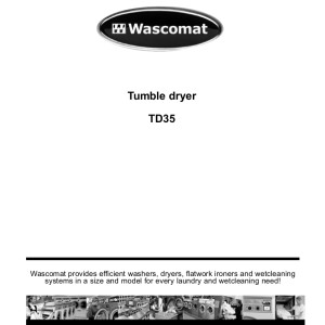 step right up appliance service manuals wascomat model td35 dryer service manual