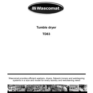 wascomat w124 service manual