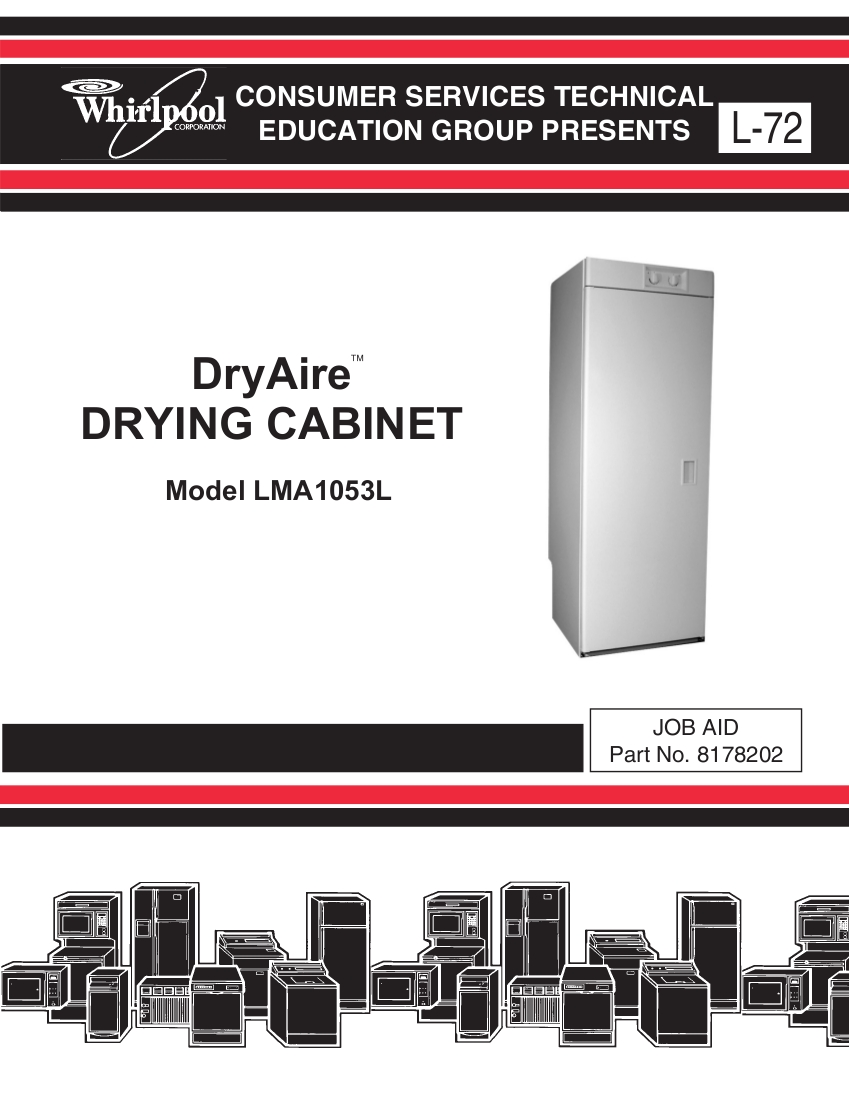 Step Right Up Appliance Service Manuals Whirlpool Dryer Schematic Dryair Drying Cabinet Manual