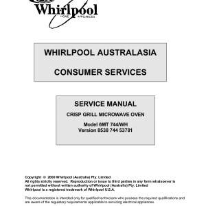 step right up appliance service manuals rh new2 steprightupmanuals com whirpool service manual wrf992fifmoo whirlpool service manuals online