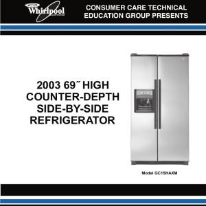 whirlpool side by side fridge freezer manual enthusiast wiring rh rasalibre co whirlpool fridges manuals whirlpool refrigerator manual