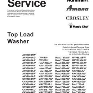 amana top load washer manual