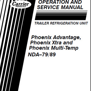 carrier transicold container refrigeration service manual