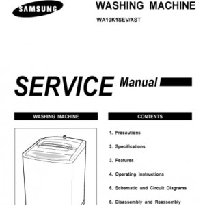 Samsung Model WA10K1 Top Load Washer Service Manual