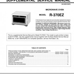 Sharp Microwave Oven Service Manual 23