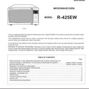 Sharp Microwave Oven Service Manual 26