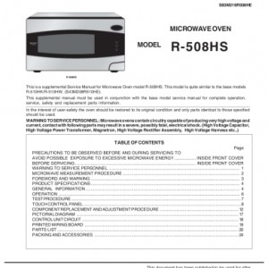 Sharp Microwave Oven Service Manual 29