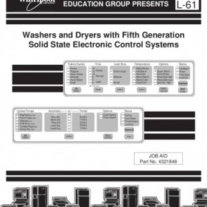 Whirlpool Washers with 5th Generation Electronic Control Systems