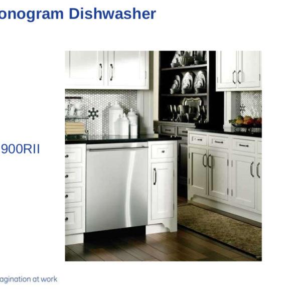 GE Monogram Dishwasher Service Manual for Model ZBD9900RII