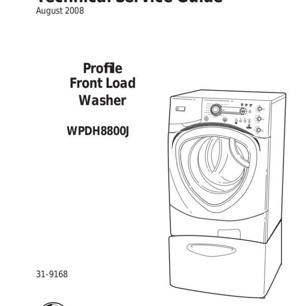 GE Profile Front Load Washer Service Manual for Model SPBD880J